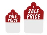 Our stringless tags are a versatile solution for your retail pricing needs. Available as sale tags, clearance tags, style tags, perforated tags, alteration tags and blank tags. These stringless tags are perfect price tags and sale tags. These wholesale tags are also available with special bulk pricing.