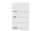 Our Tags with Strings are a versatile solution for your retail pricing needs. Available as sale tags, clearance tags, style tags, perforated tags, alteration tags and blank tags. These Tags with strings are perfect price tags and sale tags. These wholesale tags are also available with special bulk pricing.