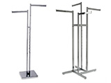 Our Two Way and Four Way Racks are a great alternative to traditional Garment Racks.  We offer multiple types of Two Ways; Two Way Racks with Straight Arms, Two Way Racks with Waterfall Arms, Two Way Racks with Straight Arms  & Slant Arms.  Our Two Way Racks are all Height Adjustable.  These Racks are available in multiple finishes and sizes to suit your space and hanging needs. These wholesale racks are also available with special bulk rack pricing for large quantity requests.