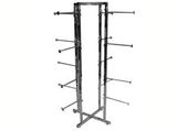 Our Specialty Racks are a great alternative to traditional Garment Racks. We offer; Six Way Racks, Lingerie Racks, Dual Bar Racks, High Capacity Racks, Ballet Bars, Presentation Racks, Coordinator racks and many more.  Our Racks are height adjustable and available in multiple finishes. These wholesale racks are also available with special bulk rack pricing for large quantity requests.